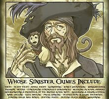 WANTED - Hector Barbossa by Missy Pena