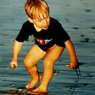 Beach Fun Hervey Bay Qld Australia by Sandra  Sengstock-Miller