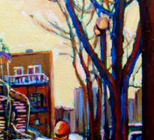 FAMOUS CANADIAN PAINTINGS OF URBAN LIFE BY CANADIAN ARTIST CAROLE SPANDAU Sticker