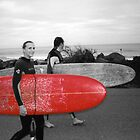 First surf on ol' big red by Kev Benge