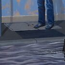 Peril II, 2013, Oil on Linen, 25x70.5cm. by Jason Moad