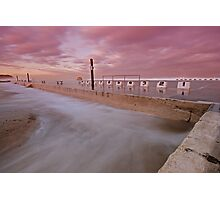 Merewether Baths at Dusk 5 Photographic Print