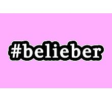 Belieber - Hashtag - Black & White Photographic Print