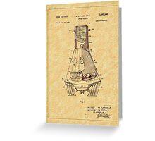 1963 Space Capsule Patent Greeting Card
