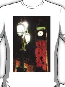 Falling Poppies Big Ben Remembrance Sunday 2014 T-Shirt