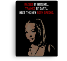 The New Beth Greene. Canvas Print