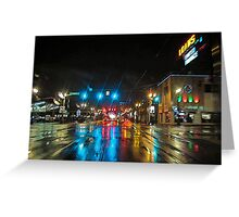 urban downpour Greeting Card