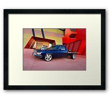 Supercharged Blue Holden HX Ute Framed Print
