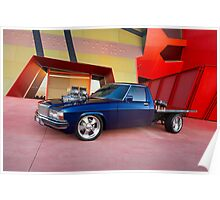 Supercharged Blue Holden HX Ute Poster