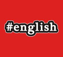 English - Hashtag - Black & White by graphix