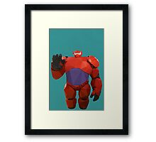 Baymax in armor - Low Poly Framed Print