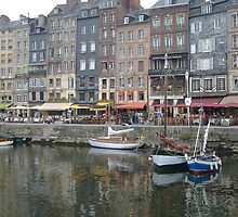 Honfleur Harbor, Normandy, France by Marsha