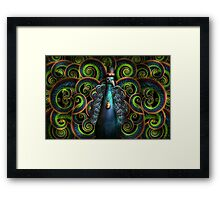 Steampunk - Pretty as a peacock Framed Print