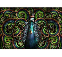 Steampunk - Pretty as a peacock Photographic Print