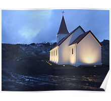 Vik Church, Iceland Poster