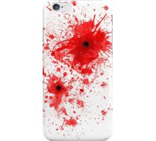 Blood spatter / bullet wound - Costume  iPhone Case/Skin