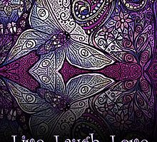 Funky Purple Butterflies Live, Laugh, Love by Sheridon Rayment by BlueMoonOwl