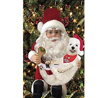 ♥ ˚ ˚✰˚LOOK AT ME ON SANTA'S KNEE I'M HAPPY HE'S GOT A BISCUIT FOR ME♥ ˚ ˚✰˚PICTURE-CARD Photographic Print