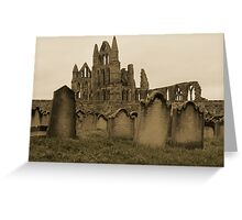 Whitby Gravestones Greeting Card