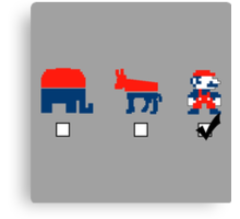 Vote for the Mario Party Canvas Print