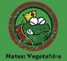 Hates: Vegetables (Battle Damage) Kids Clothes
