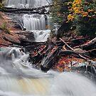 Michigan's Sable Falls by Kenneth Keifer