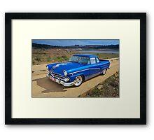 Blue Ford Mainline Framed Print