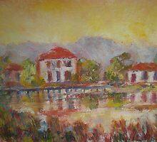 River Rushes and Reflections Water David Hinchliffe by David Hinchliffe