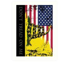 American Gadsden Flag Worn Art Print