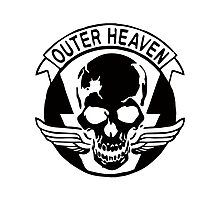 Outer Haven Logo Black Photographic Print