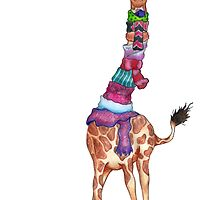 Cold Outside - Cute Giraffe Illustration by Perrin Le Feuvre