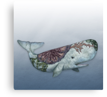 Whale in the Deep Canvas Print