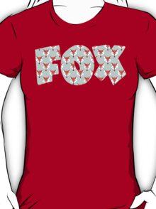 Fox Pattern on Sage  T-Shirt
