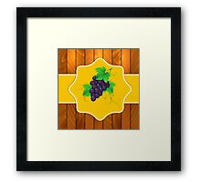 Grapes on a wooden background 3 Framed Print