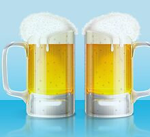 Light beer mugs by AnnArtshock