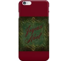 Joyeux Noel In Green And Red iPhone Case/Skin