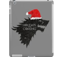 Thrones Christmas: Holidays are Coming iPad Case/Skin