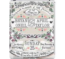 Wedding Invitation Labels and Banners iPad Case/Skin