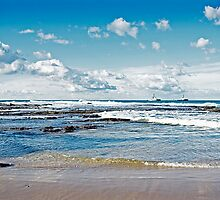 Nobbys Beach by Nathan T