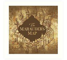 Distressed Maps: Harry Potter Marauder's Map Art Print