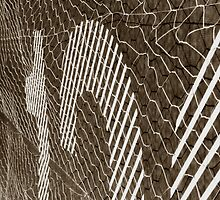 wire on fence by mick8585