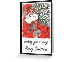 Wishing You A Very Merry Christmas Greeting Card Greeting Card