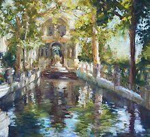 Medici Fountain, Luxemborg Gardens, Paris by Terri Maddock