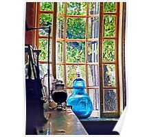 Blue Apothecary Bottle Poster