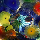 Painted Glass Flowers by DARRIN ALDRIDGE