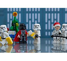 Darth Santa Photographic Print