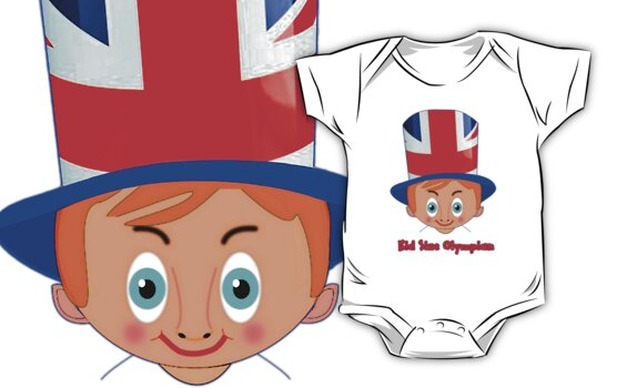 Toon Boy 11 Kid Size Olympian T-shirt  by Dennis Melling