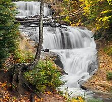 Sable Falls in Michigan's Pictured Rocks National Lakeshore by Kenneth Keifer