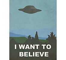 I WANT TO BELIEVE - X-FILES Photographic Print