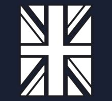 UNION JACK WHITE, BRITISH FLAG, UK, UNITED KINGDOM by TOM HILL - Designer